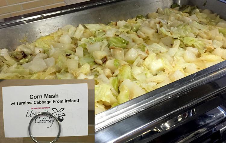 Irish menu