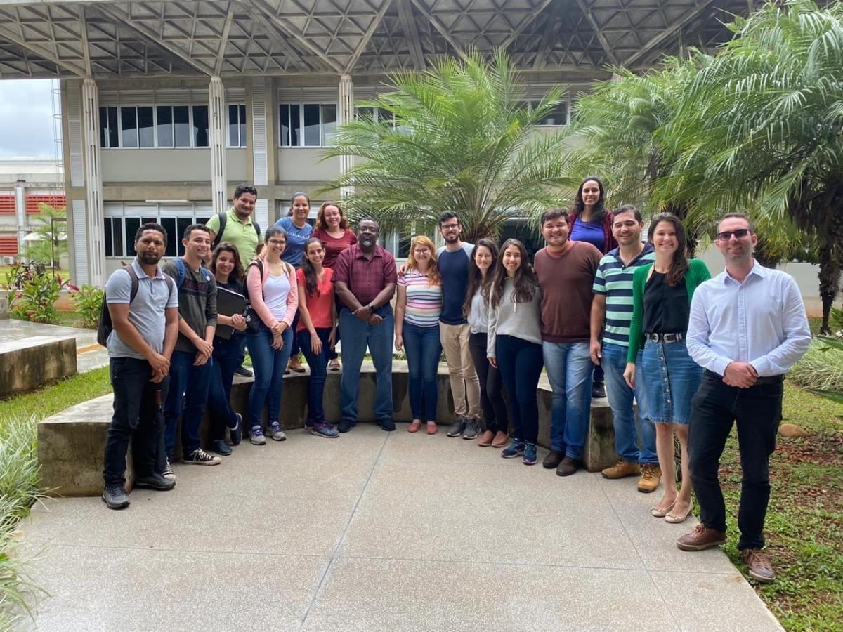Prof. Pierce Paul with EMBRAPA scientists during his recent sabbatical in Brazil.
