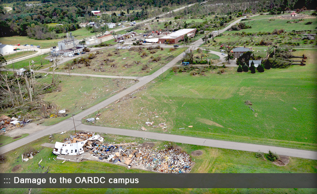 Damage to OARDC campus