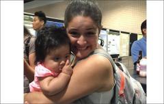 Krystel Navarro and baby