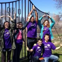 students on urban agriculture tour