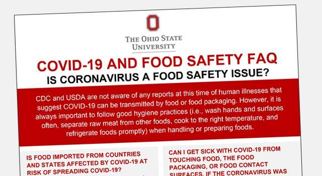 Food safety fact sheets