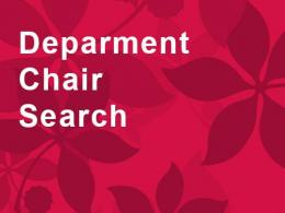 Department chair search